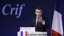 Frankreich Rede Emmanuel Macron - Antisemitismus in Frankreich