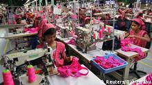 Indien Textilfabrik Näherinnen
