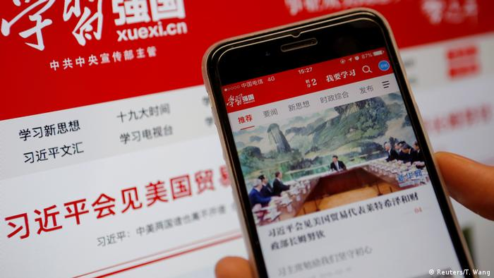 China - APP - Xuexi Qiangguo - Propaganda App (Reuters/T. Wang)
