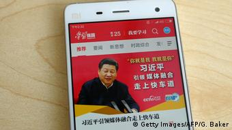 China - APP - Xuexi Qiangguo - Propaganda App (Getty Images/AFP/G. Baker)