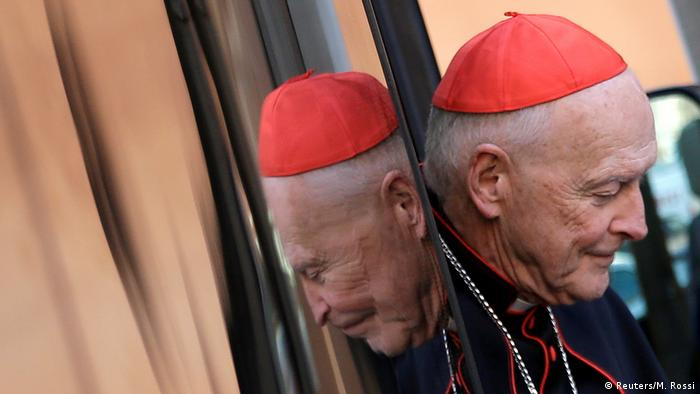 Theodore McCarrick arriving at the Vatican for a summit on sexual abuse in the Catholic Church
