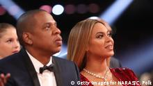 12.02.2017****LOS ANGELES, CA - FEBRUARY 12: Music artists Jay Z and Beyoncé during The 59th GRAMMY Awards at STAPLES Center on February 12, 2017 in Los Angeles, California. (Photo by Christopher Polk/Getty Images for NARAS)