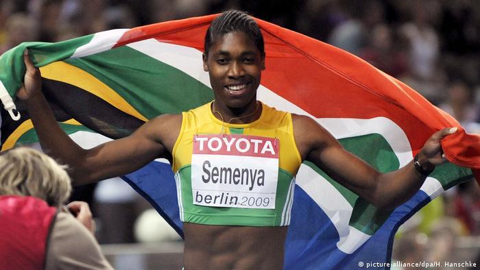 Leichtathletik Sportlerin Caster Semenya (picture-alliance/dpa/H. Hanschke)