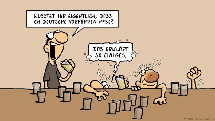 DW Euromaxx Comic von Fernandez Verstehen Sie Deutsch? Alkohol