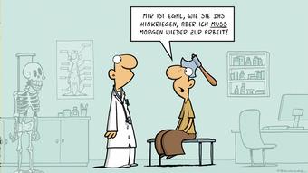 DW Euromaxx Comic von Fernandez Verstehen Sie Deutsch? Arzt