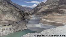 Indien Pakistan Kaschmir Flusstal Zanskar und Indus River