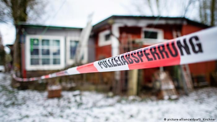 Police tape off a campsite where children are believed to have been sexually abused for years in Lügde, Germany