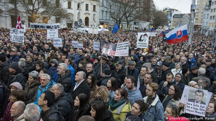 Демонстрація у Братиславі на річницю вбивства Яна Куціяка
