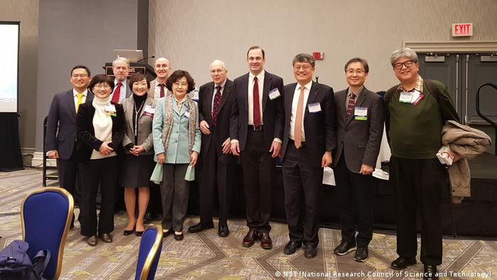 Participants of the AAAS session Science diplomacy and North Korea (NST (National Research Council of Science and Technology) )