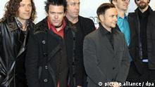 Die deutsche Band Rammstein kommt am Samstag (21.02.2009) in Berlin zur Verleihung des Echo 2009. Der deutsche Musikpreis wird in 27 Kategorien vergeben und live in der ARD übertragen. Foto: Soeren Stache dpa/lbn +++(c) dpa - Bildfunk+++
