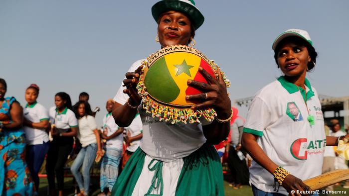 Senegal Wahl | Wahlkampf von Ousmane Sonko in Pikine, Unterstützer