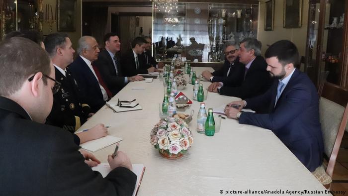 Türkei Gespräch Friedensprozess Afghanistan | Zalmay Khalilzad, USA & Samir Kabulow, Russland