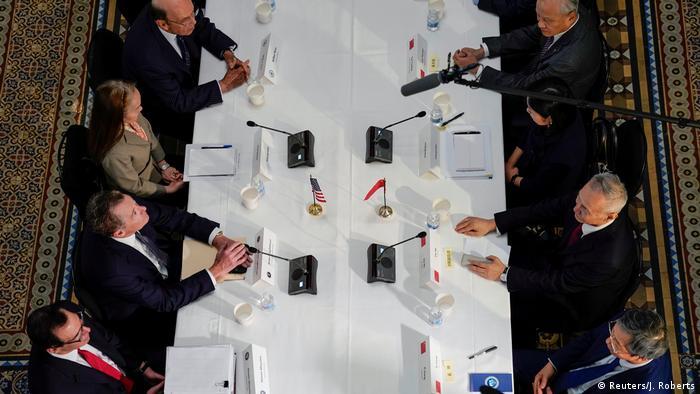 USA Handelsgespräche mit China in Washington   Lighthizer & Mnuchin & Ross & Liu He
