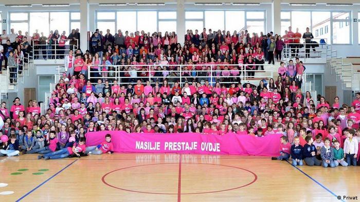 Kroatien Bildung Berufe Schulen   Aktion Gewalt hört hier auf
