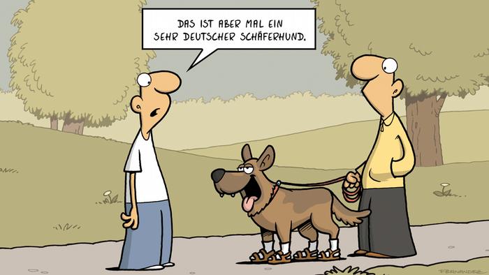 DW Euromaxx Comics von Fernandez Verstehen Sie Deutsch? Deutscher Hund