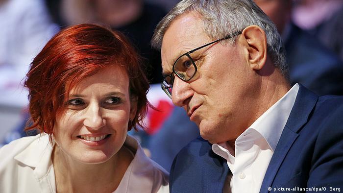 Katja Kipping and Bernd Riexinger in conversation