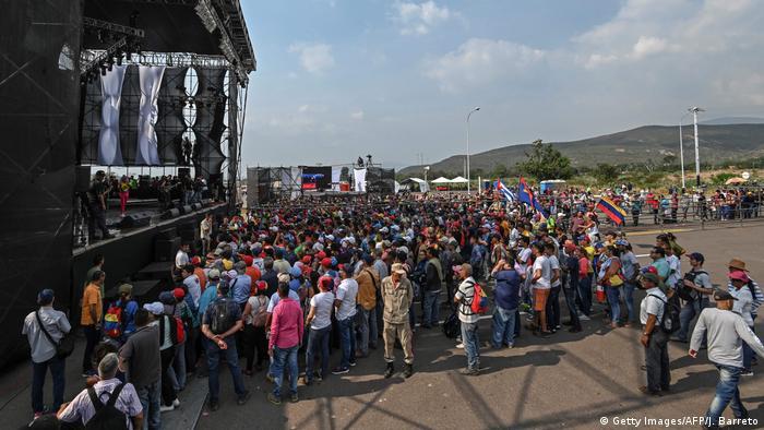 Venezuela | Konzert an der Grenze zu Kolumbien in Urena (Getty Images/AFP/J. Barreto)