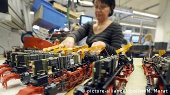 Модели паровозов на заводе фирмы Märklin