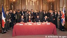 Paris Unterzeichnung Vertrag von Rambouillet