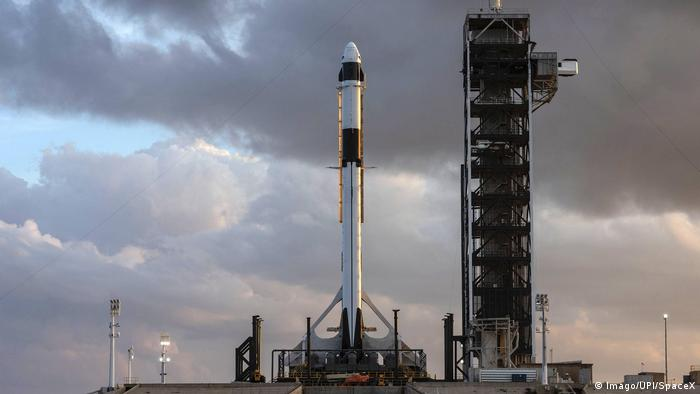 Vorbereitungen SpaceX s Demo-1 Mission Falcon 9 (Imago/UPI/SpaceX)