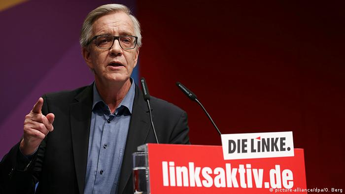 Dietmar Bartsch at the Left Party's convention in Bonn (picture-alliance/dpa/O. Berg)