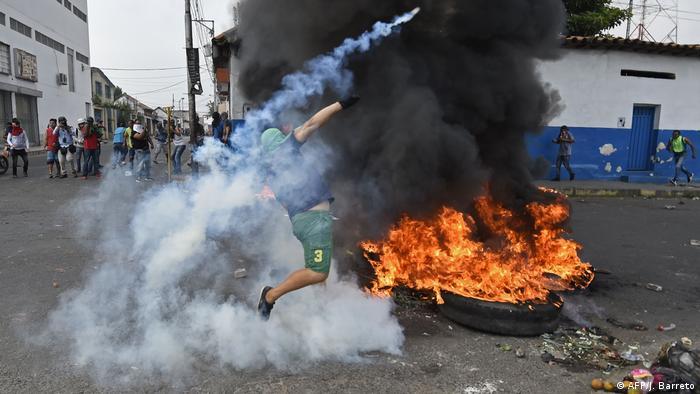 Venezuela Grenzstadt Ureña Proteste (AFP/J. Barreto)
