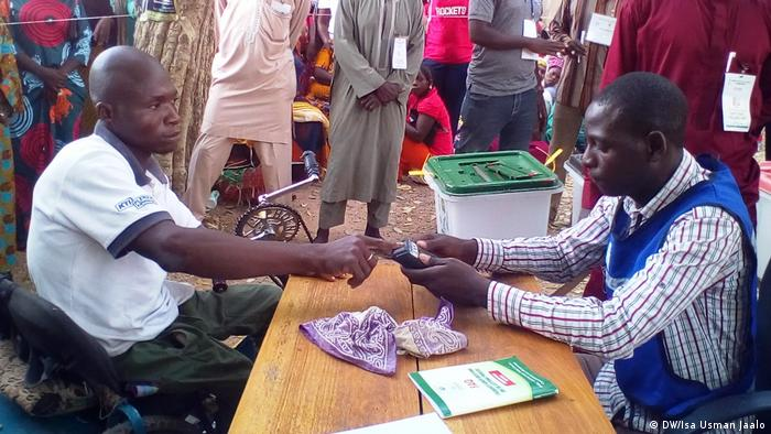 Checks at a voting center in Taraba