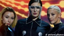 KYIV, UKRAINE - FEBRUARY 09, 2019: Singer MARUV member of the second semi-final of the national selection for Eurovision-2019 (Photo by Aleksandr Gusev/Pacific Press) | Verwendung weltweit, Keine Weitergabe an Wiederverkäufer.