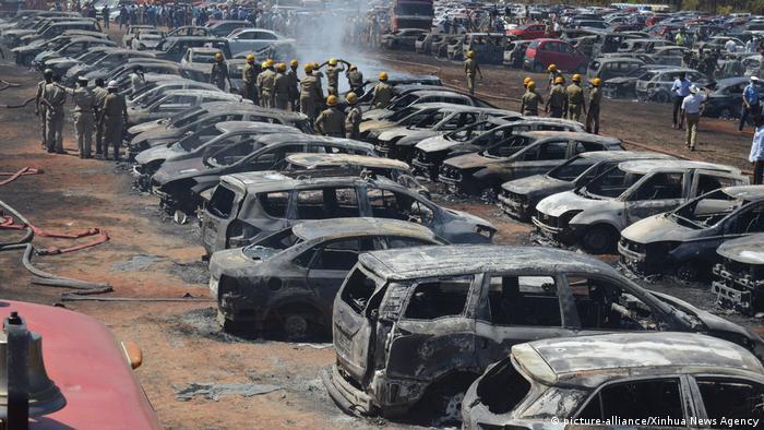 Последствия пожара в Индии, авиасалон Aero India
