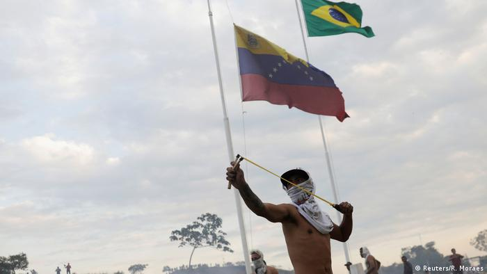 Venezuela Pacaraima Grenze Brasilien Ausschreitungen