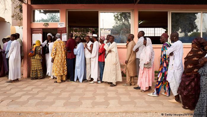 Senegal Präsidentschaftswahlen   Wahllokal