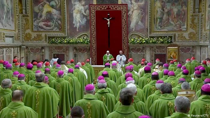 Vatikan-Missbrauchskonferenz Papst Franziskus Messe (Reuters/CTV)