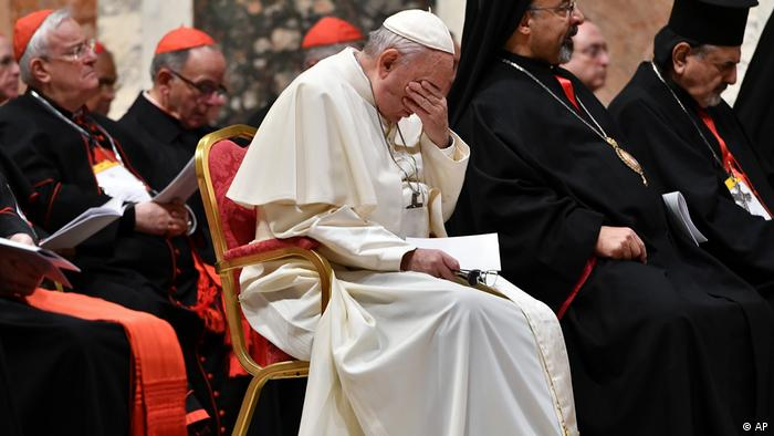 Pope Francis attends a summit on preventing clergy sexual abuse