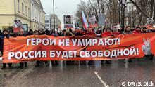 Moskau Boris Nemzow Gedenkaktion