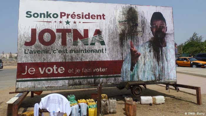 Affiche électorale d'Ousmane Sonko à la présidentielle