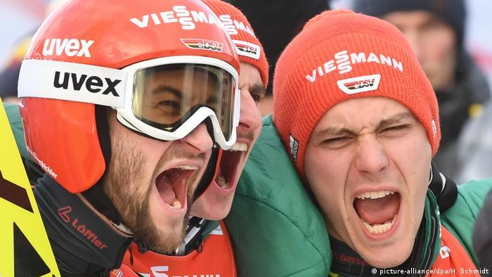 WM-Sieg - 2019 FIS Nordic World Ski Championships - Deutschland gewinnt Gold mit Karl Geiger, Richard Freitag, Stephan Leyhe und Markus Eisenbichler