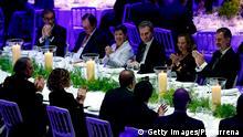 Barcelona, König und President Kataloniens, Quim Torra, beim Festbankett der Eröffnungs des Mobile World Congress