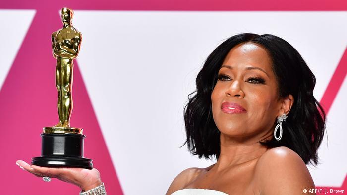 Regina King winning the first Oscar of her career