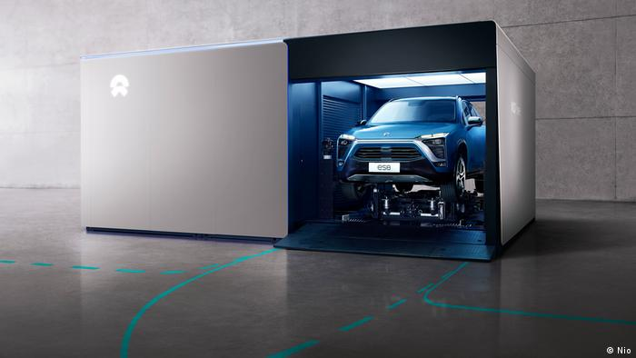 Automatisch Ladestation von E-Autos der Firma nio (Nio)