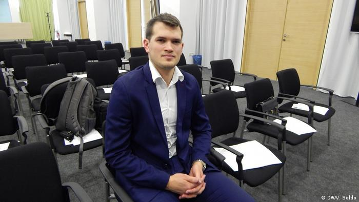 Kristijan Marić, Manager der Bussines Lux Bar in Mostar (DW/V. Soldo)