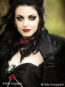 A woman dressed in Gothic fashion