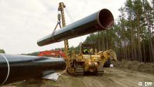 Baustelle der Eugal-Pipeline