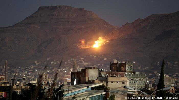 Saudi-led alliance launches airstrikes on Yemen's rebel capital