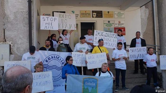 Proteste gegen Wasserkraftwerke Aufbau in Bosnien-Herzegowina