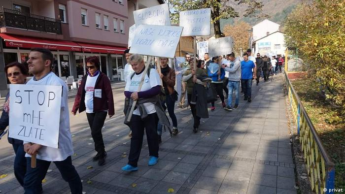 Protest in Bosnia against hydroelectric power plants