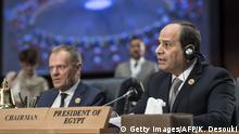 Ägypten Gipfel EU und Arabische Liga in Sharm El Sheikh Tusk und al-Sisi