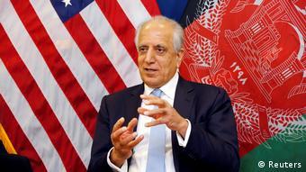 В США-Sondergesandte für den Frieden в Афганистане Залмай Халилзад, представитель американо-американского Botschaft в Кабуле, Афганистан (Reuters)