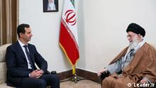 Syriens Machthaber Bashar Assad besucht Ayatollah Ali Khamenei, den Führer der Islamischen Republik Iran