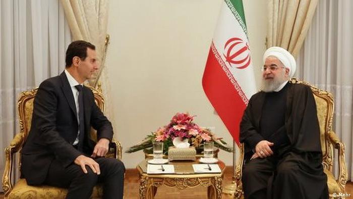 Syriens Machthaber Bashar Assad trifft Hassan Rohani, den Staatspräsidenten der Islamischen Republik Iran