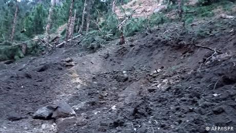 Pakistan - Zerstörung nach Luftangriff der Indischen Armee (AFP/ISPR)